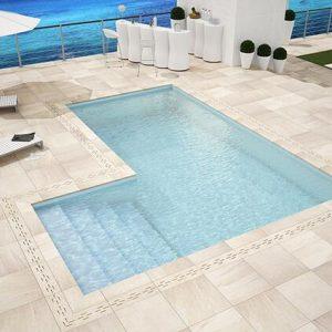 20 mm pose sur plots contours de piscine Materia