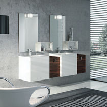 meuble de salle de bain bordeaux